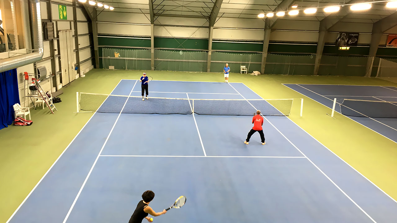 tennis court project application with smart control led high bay
