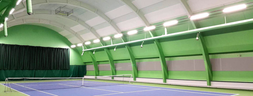 tennis court application of led linear high bay
