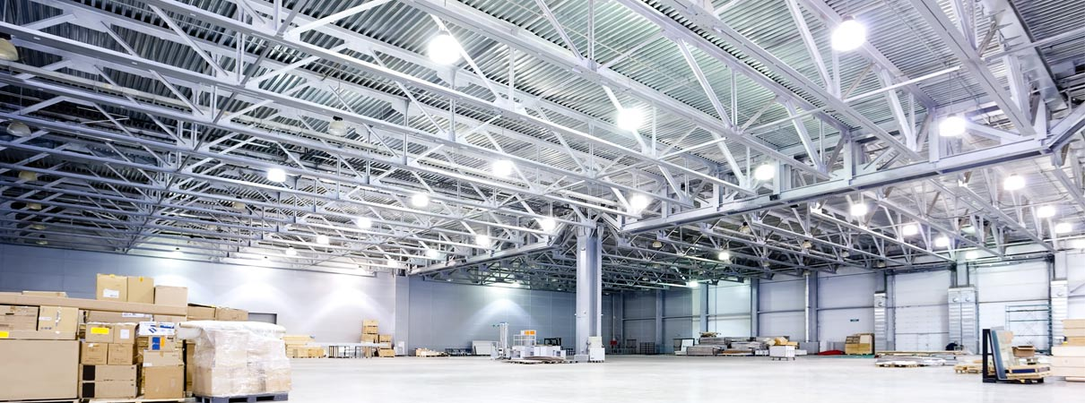 warehouse application of led high bay fixtures
