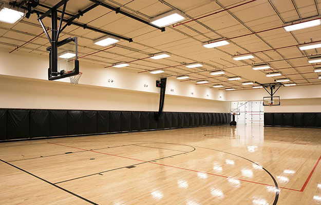 led linear high bay application for basketball court