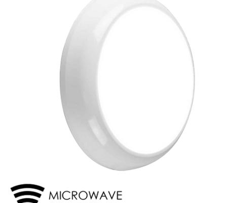15W LED Round Bulkhead with microwave sensor B1 IP65   TUBU