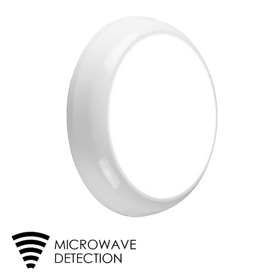 15W LED Round Bulkhead with microwave sensor B1 IP65 | TUBU