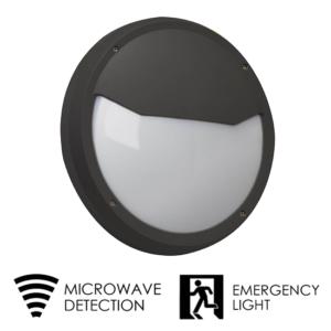 LED round Bulkhead fitting emergency and microwave sensor   TUBU