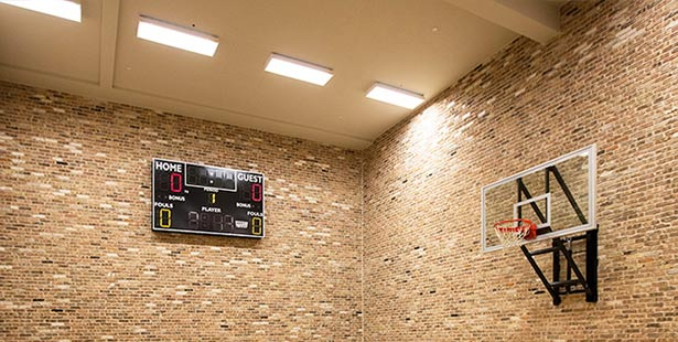 Sports Court application of anti-glare led high bay