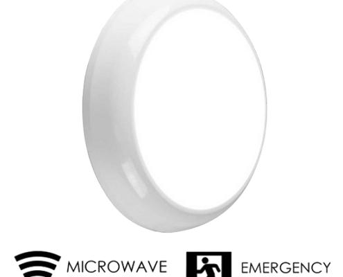 led bulkhead ip65 emergancy and microwave sensor   TUBU