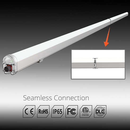 seamless connection ip65 led vapor tight