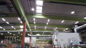 led high bay application for wood factory