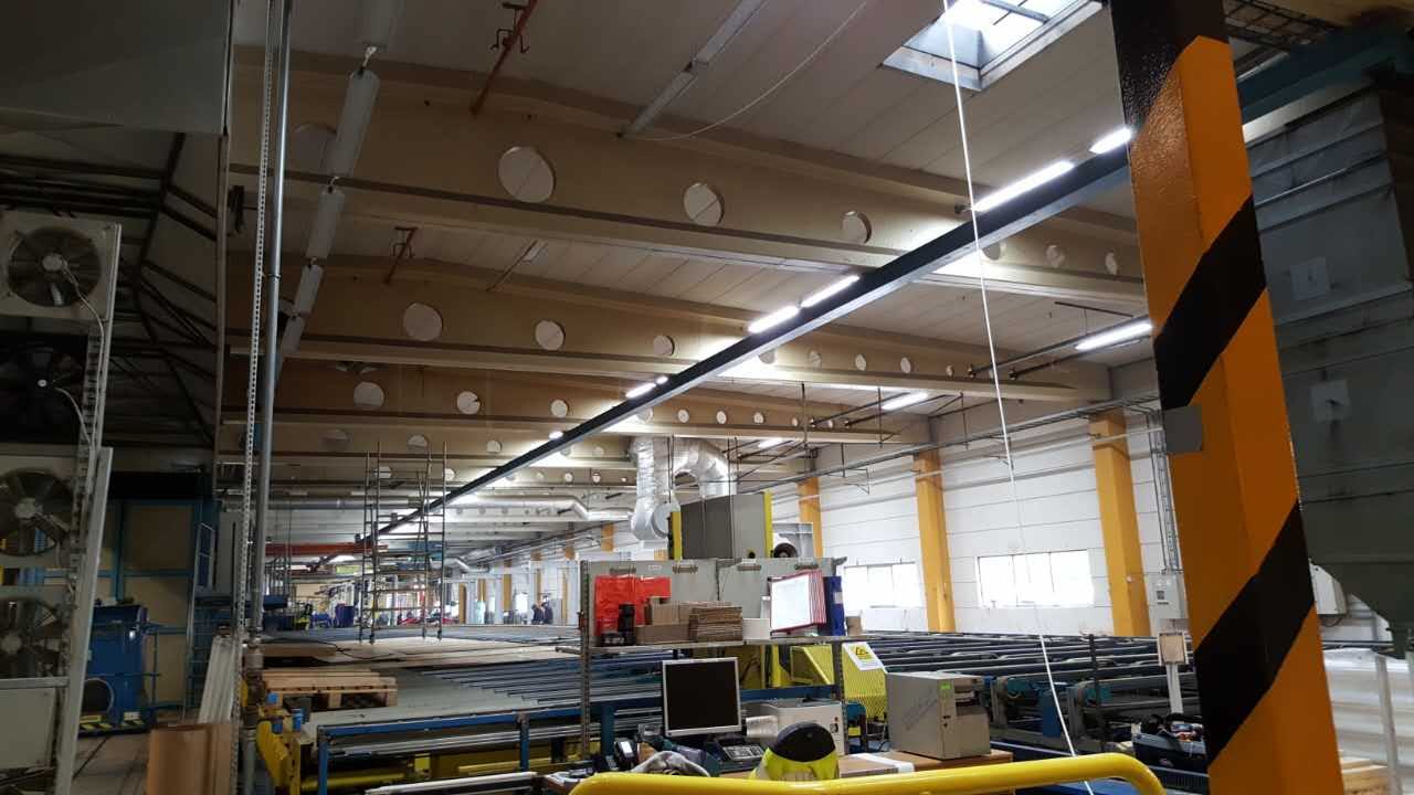 led linear high bay application for plant