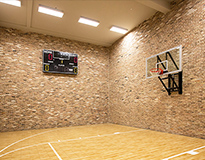led linear high bay application for sport court