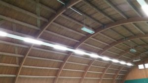 led panel application for sport court