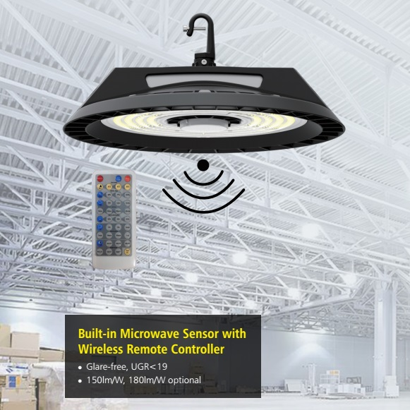 built-in motion sensor led high bay