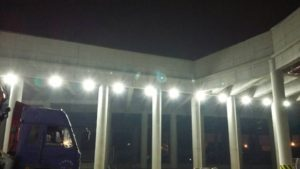 led high bay lighting application for construction industry