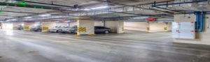 led tri-proof light application for parking lot