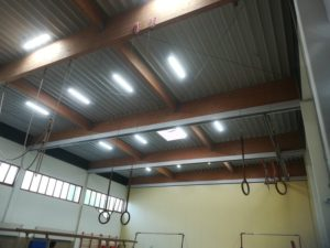 compact led linear high bay application for gym
