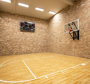 basketball court application of led linear high bay