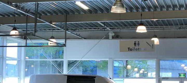 led ufo high bay application for parking garage
