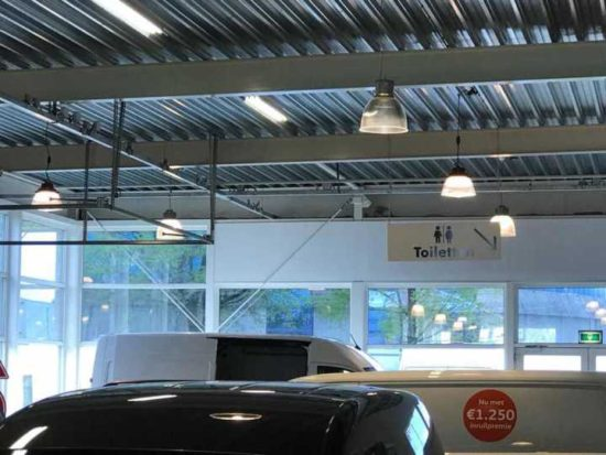 led ufo high bay application for parking garage