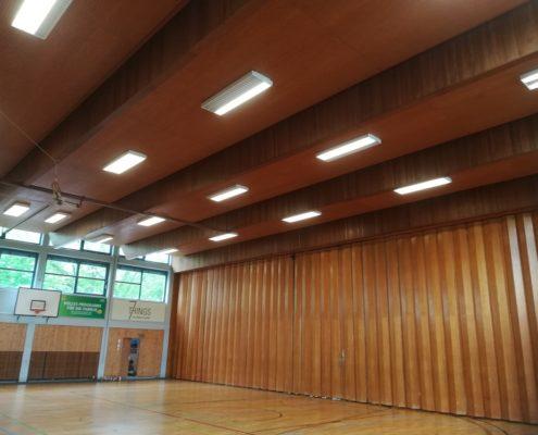 LED high bay gym lighting application