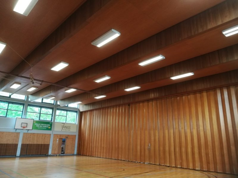 LED high bay gym lighting application