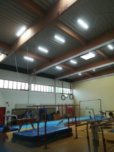 led linear high bay gym lighting application