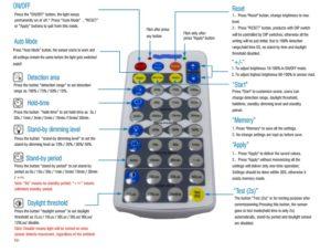 occupancy sensor led high bay remote controller