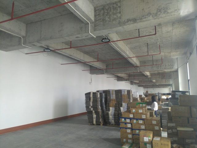 motion sensor led high bay application for factory warehouse