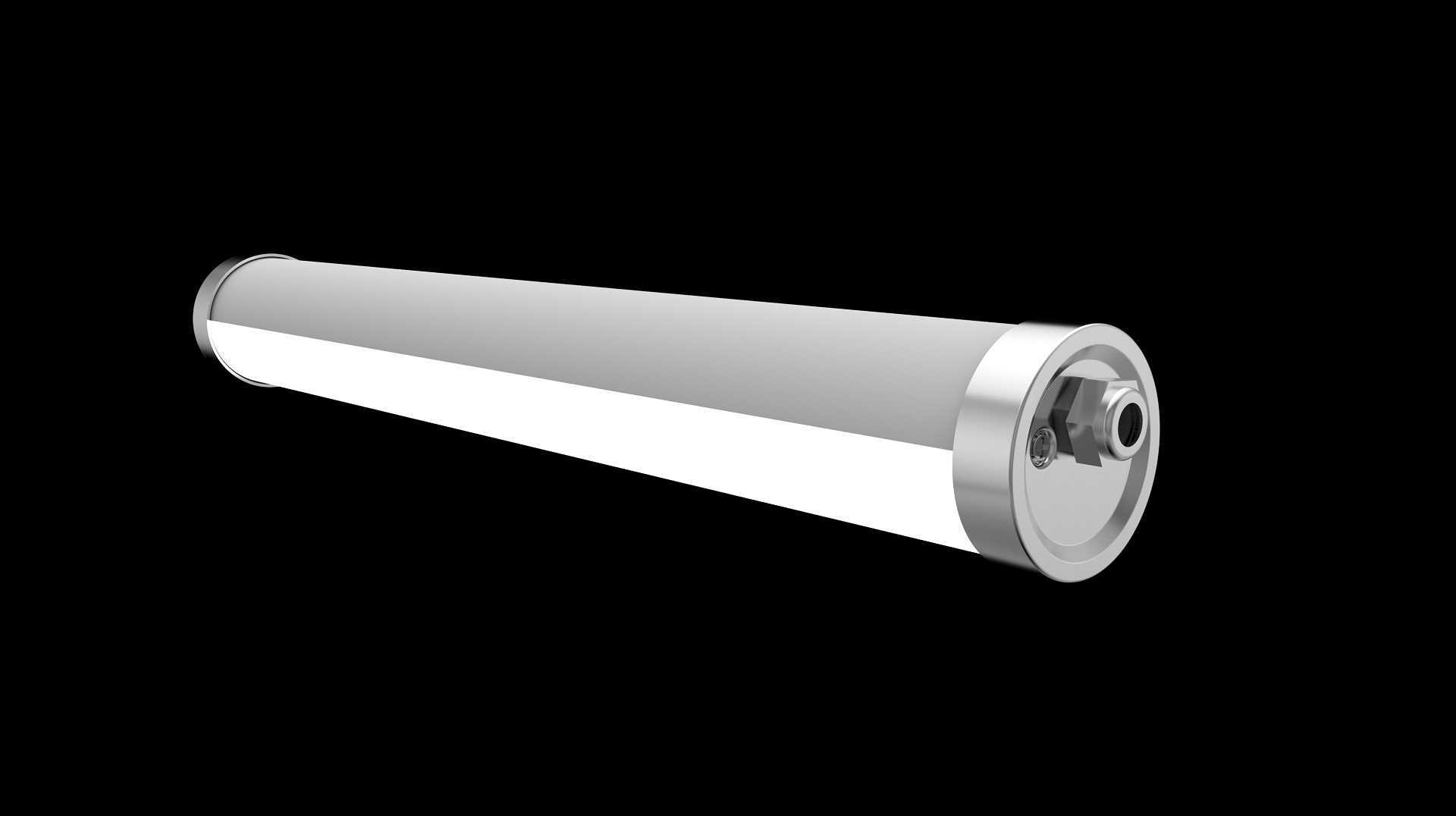 600mm IP69K round tri-proof led light with stainless steel 316 end caps