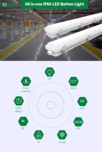 TUBU LED batten light vapor tight fixture
