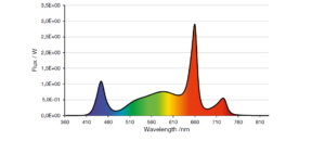 LED emission spectrum recommended for fruiting by sole-source lighting
